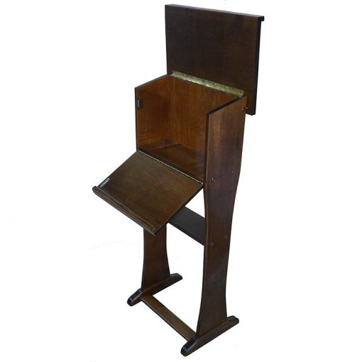 solid wood shtender is the perfect height for sitting or standing prayer and study