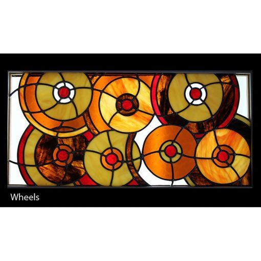 stained glass domed lighting wheels