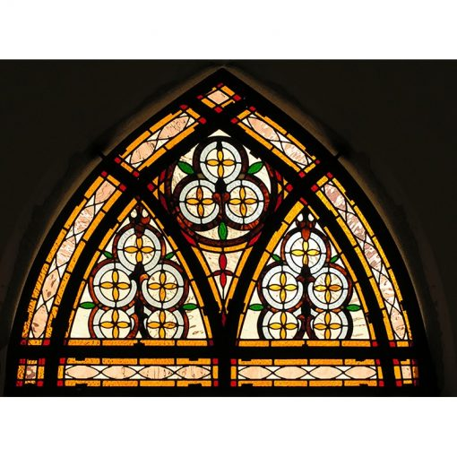 synagogue stained glass windows in dome shape gold