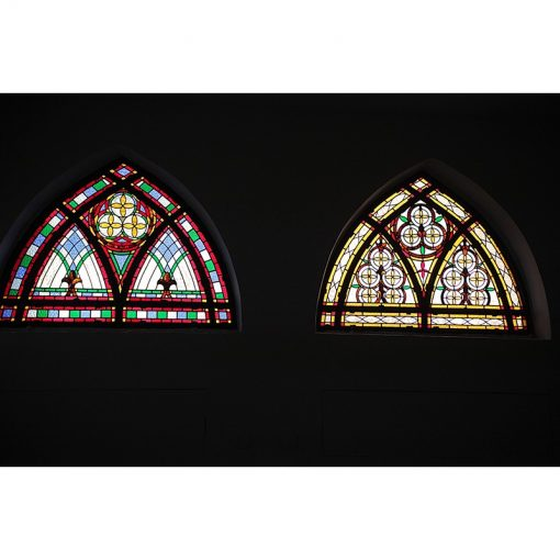 synagogue stained glass windows in dome shape