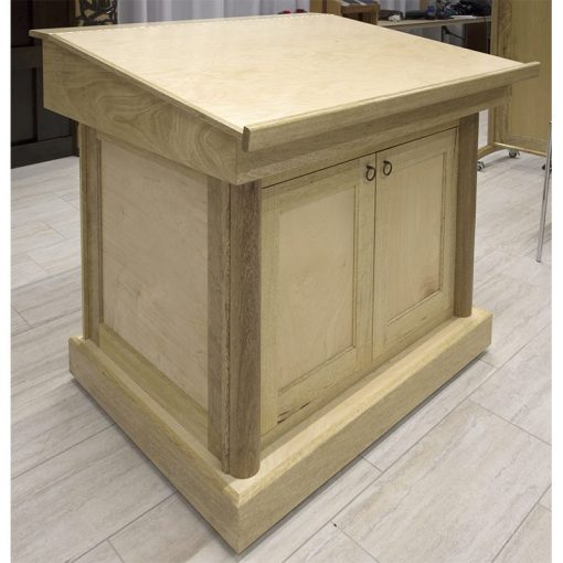torah reading table with natural finish and tilted top