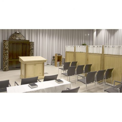park plaza retirement center carved aron kodesh mechitzas, and bimah
