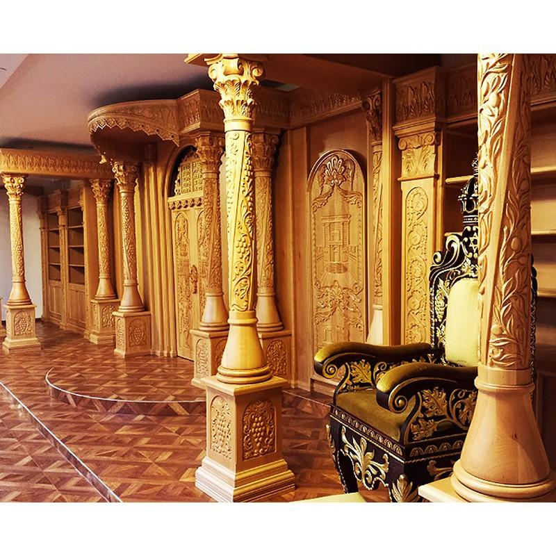 Sephardic synagogue interior carved by hand from solid wood