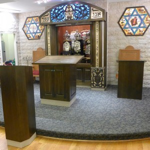 synagogue interior at sons of israel in queens, new york