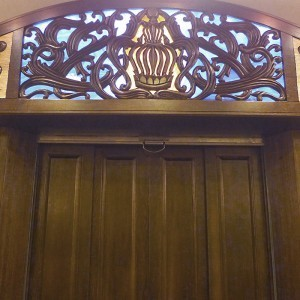 carving and glass for synagogue interior in queen new york