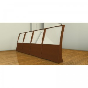 Houston, Texas Chabad contemporary synagogue design one-way mirror mechitza from the men's side
