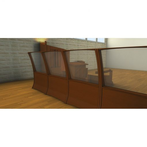Houston, Texas Chabad contemporary synagogue design one way mirror mechitza from the woman's side