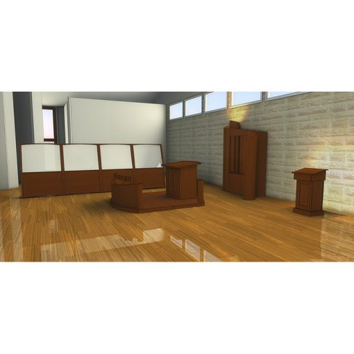 Houston, Texas Chabad contemporary synagogue design men's side