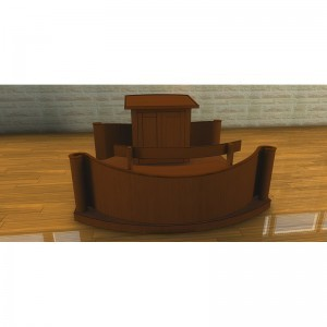 Houston, Texas Chabad contemporary synagogue design bimah and torah reading table