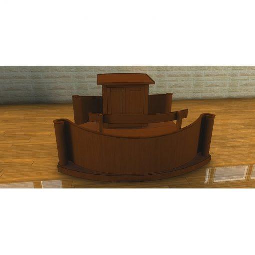 Houston, Texas Chabad contemporary synagogue design bimah and torah reading table