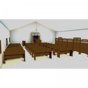 pews and synagogue overview for Long Island City Son's of Israel