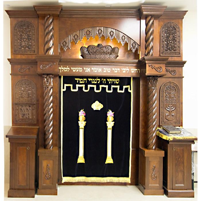 Synagogue Interior and aron kodesh for kiriat yaarim in Israel
