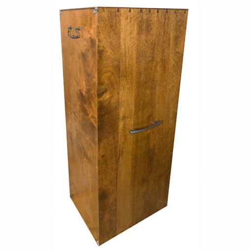 portable wood carved torah ark back opens