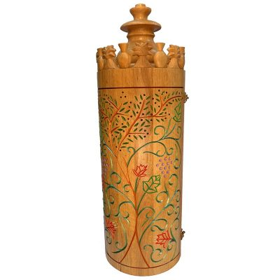 Sephardic solid wood carved seven species painted torah