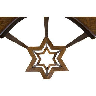 Double Star of David Jewish Stars built in synagogue furniture torah stand