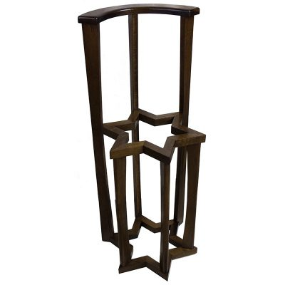solid wood star of david torah stand