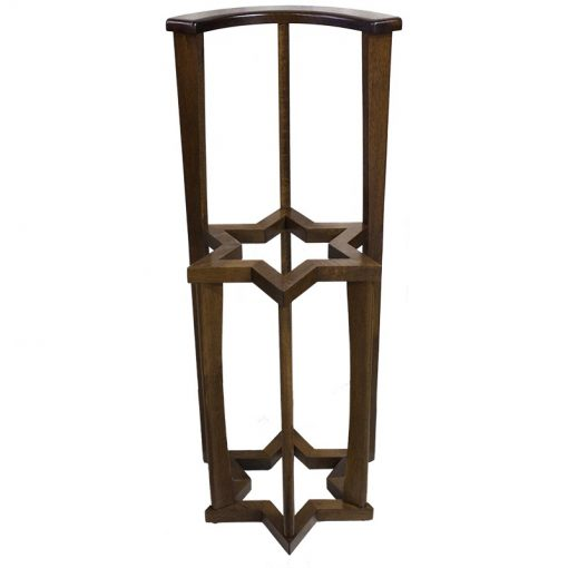 solid wood star of david torah holder