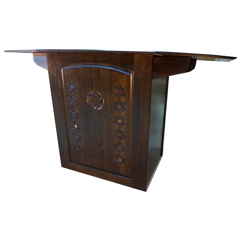 Folding Table Portable Torah Reading Table side view