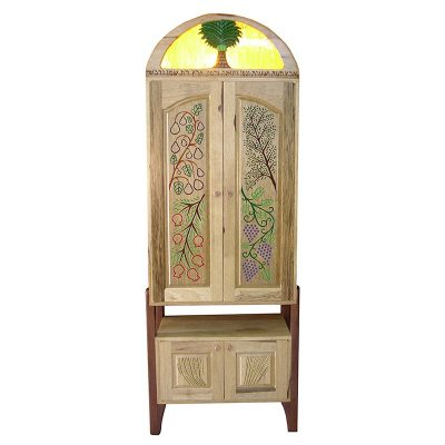Seven Species Torah Ark from solid wood and carving