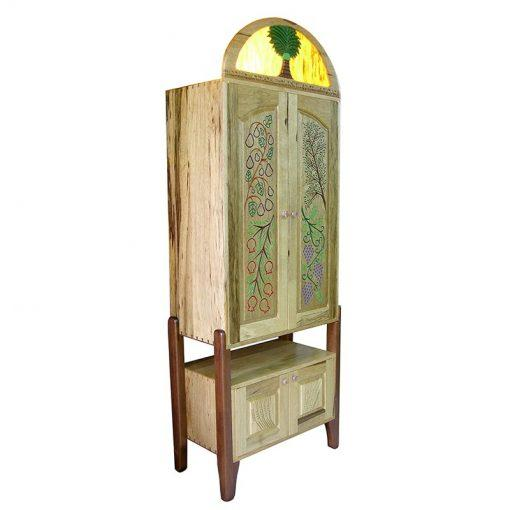 Seven Species Torah Ark torah ark from the side view