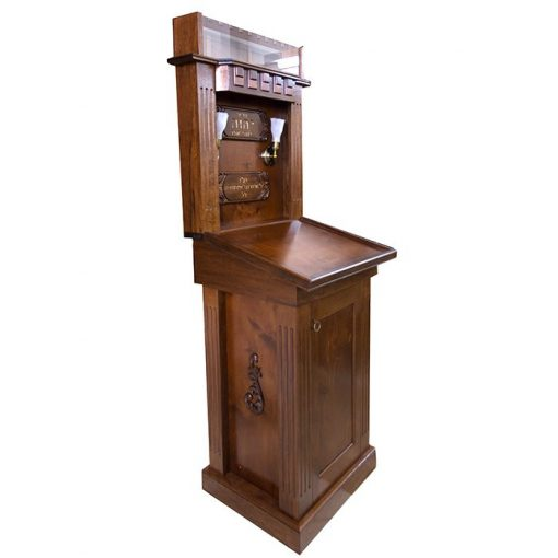 Traditional wood Amud Tefillah Prayer Stand for Chazan Bet Shemesh