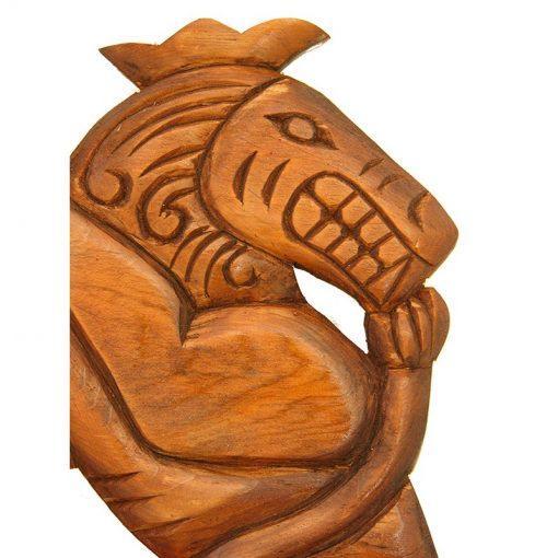 ten commandments wood carving carving lion detail
