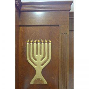 gold menorah with LED lighting froo aron kodesh in Miami