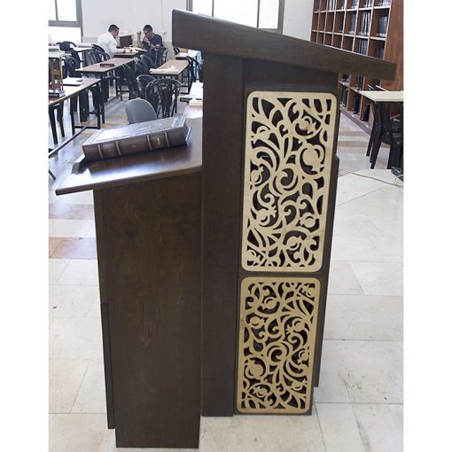 amud tefillah for synagogue in bet shemesh laser cut with adjustable top