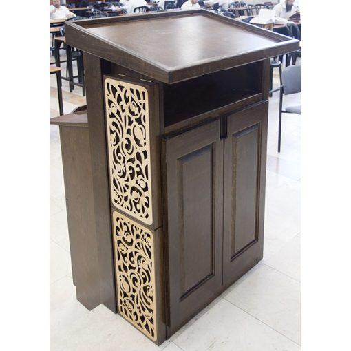 wood amud tefillah for synagogue in bet shemesh laser cut