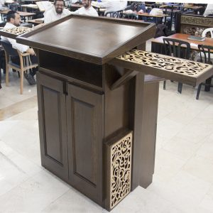 amud tefillah for synagogue in bet shemesh laser cut with wings