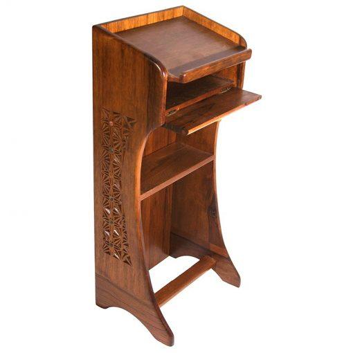 open shelf for prayer book on shtender podium used at synagogue