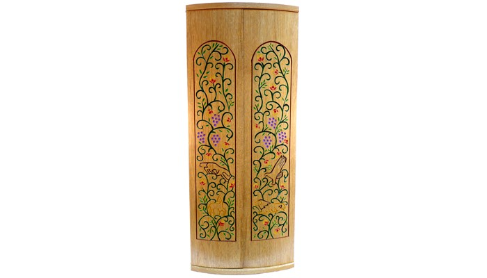 Curved Door Ark with Pirke Avot