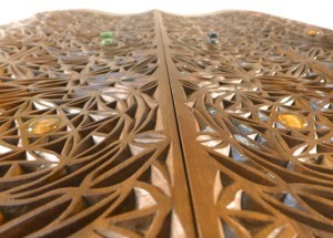 Curved Torah Ark Doors with Pattern Carving