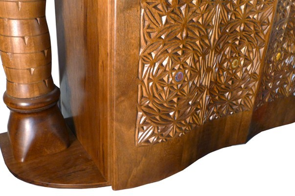 Curved Torah Ark with Carved doors