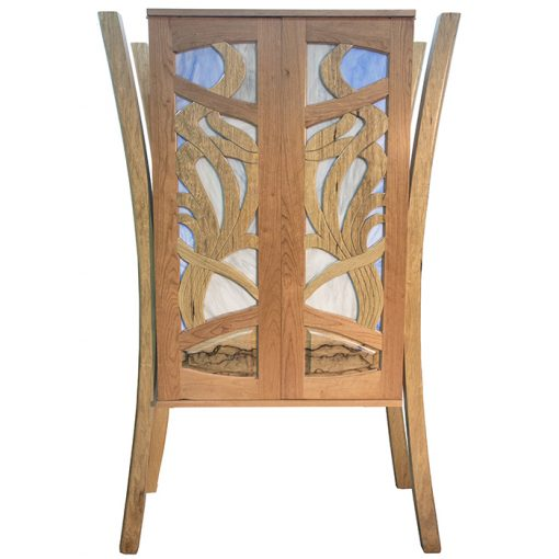 aron kodesh contemporary art noveau hanging cherry walnut ark