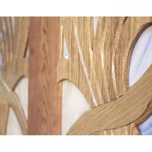 Wood work details of art noveau pattern aron kodesh