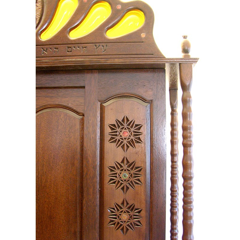 columns and twelve tribes aron kodesh detail of top