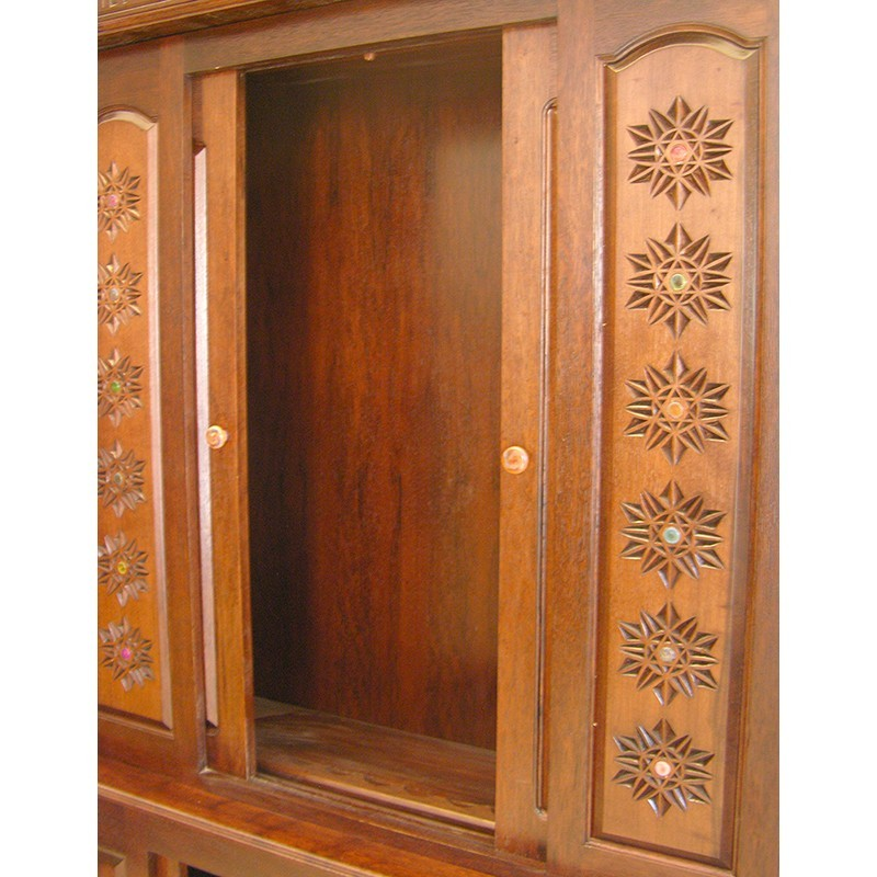 columns and twelve tribes aron kodesh sliding doors