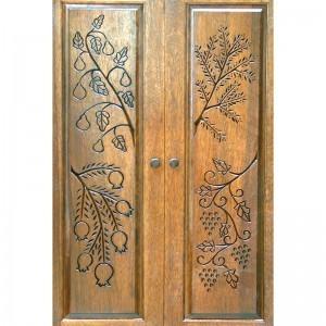 Or Zaruah Torah Ark with seven species wood carved doors