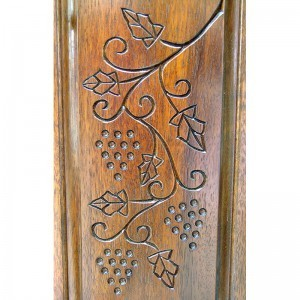 Or Zaruah Torah Ark with seven species wood carving of grapes
