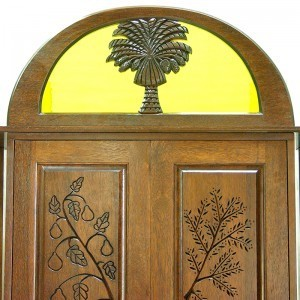 Or Zaruah Torah Ark with seven species wood carving ner tamid