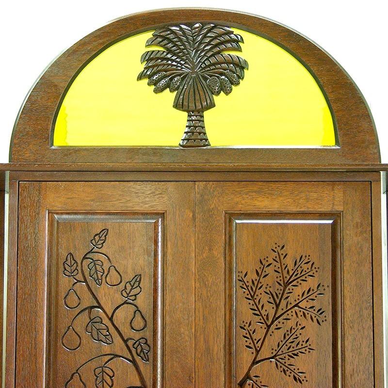 Or Zaruah Torah Ark with seven species wood carving ner tamid