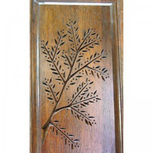 Or Zaruah Torah Ark with seven species wood carving of olive tree