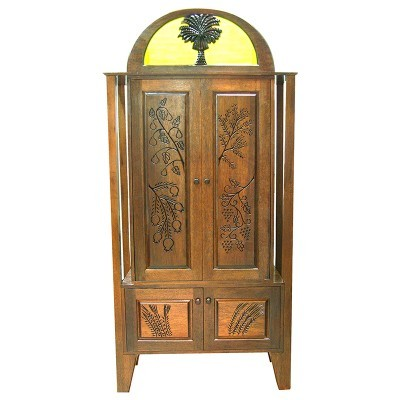 Or Zaruah Torah Ark with seven species wood carving