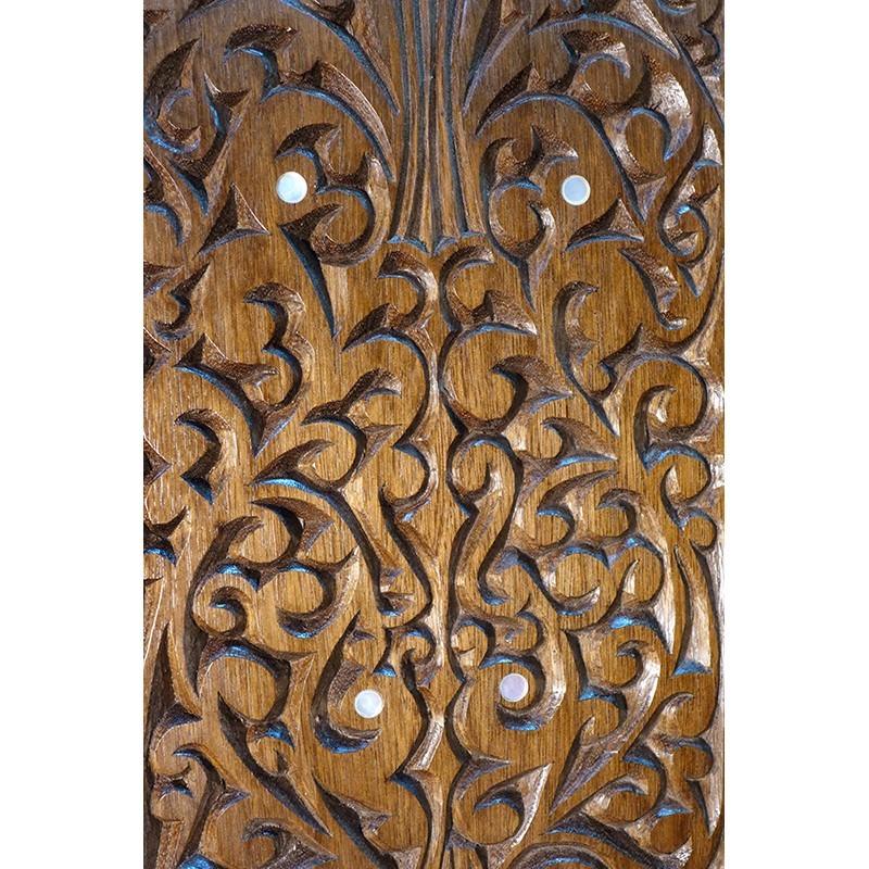 carving detail of wood carved mishkan aron kodesh