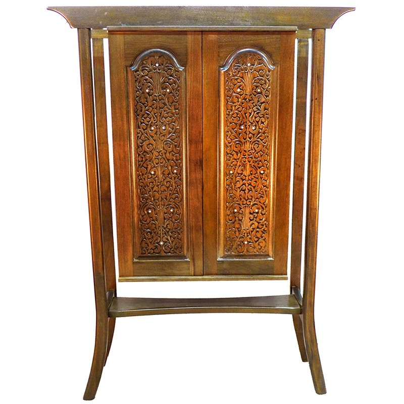 hanging wood carved mishkan aron kodesh