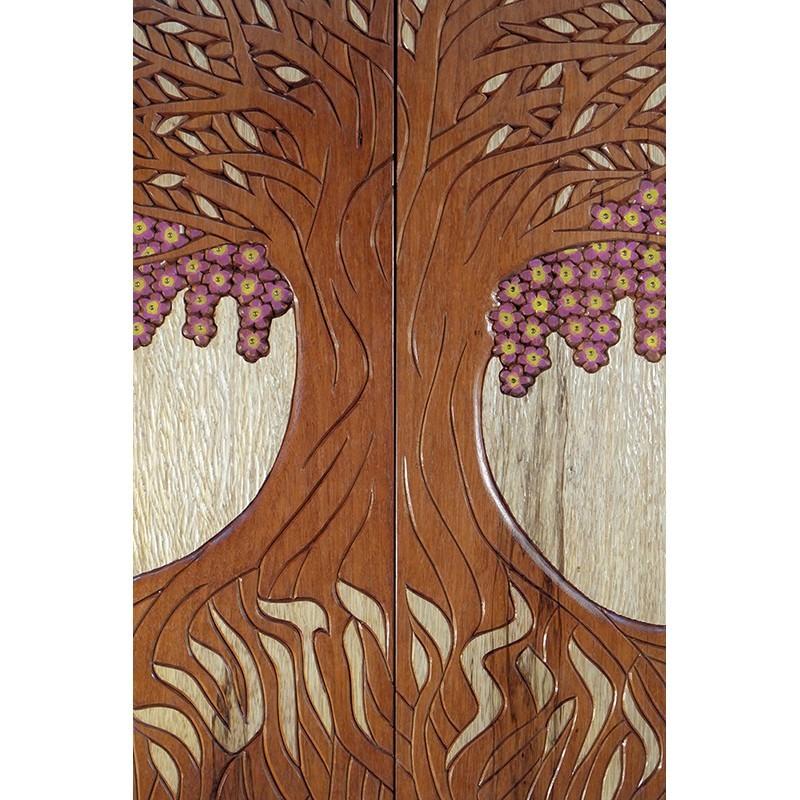 Jewish Oahu Torah Ark wood carving