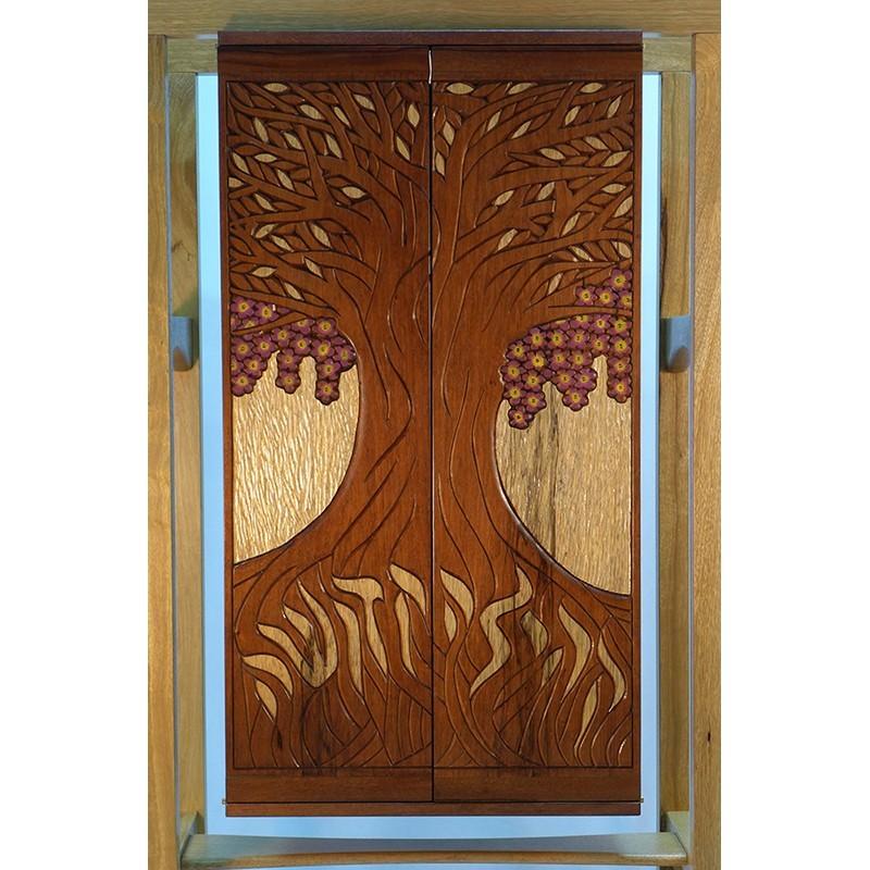 Jewish Oahu Torah Ark Wood Carved Doors
