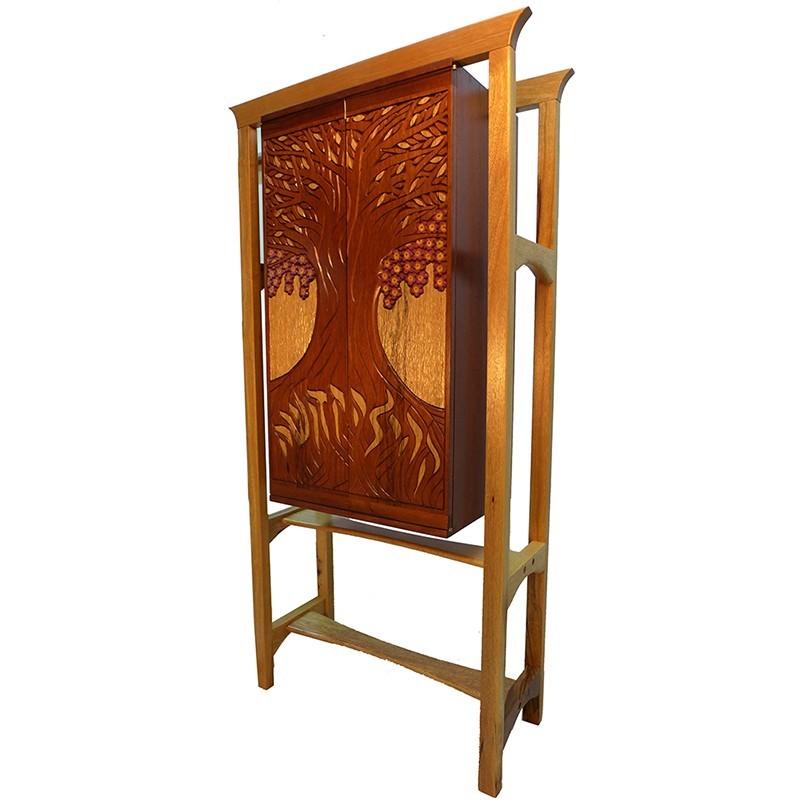 Jewish Oahu Torah Ark Wood Carved Ark