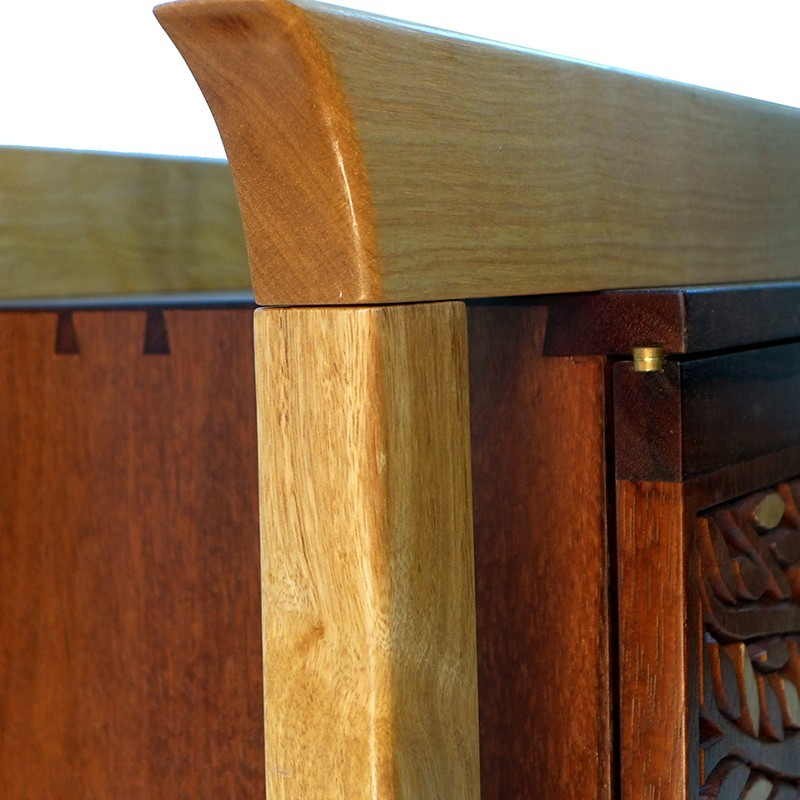 Jewish Oahu Torah Ark wood joinery